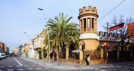 3rd century: BARCELONA, SPAIN - MARCH 23: Old street in March 23, 2013 in Barcelona, Spain. Badalona was founded by the Romans in the 3rd century BC.  Population: 220,977 (2012 Census) Editorial