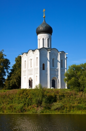 intercession: Church of the Intercession on the River Nerl in summer