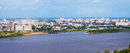 nizhni novgorod: panoramic view of  residential district at Nizhny Novgorod in summer. Russia