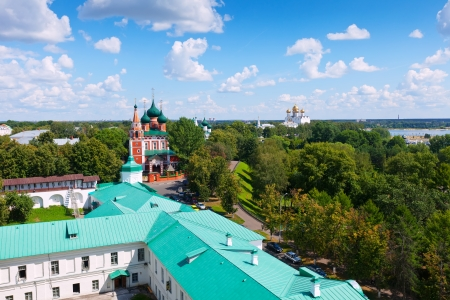 Summer view of old district of Yaroslavl  Russia photo