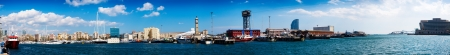 Panorama of Port Vell and La Barceloneta district in Barcelona photo