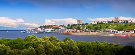 Panorama of Nizhny Novgorod with Oka river. Russia photo