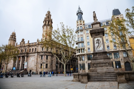 View of Barcelona, Spain. Main post office building Stock Photo - 19155873