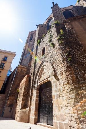 gotico: Santa Maria del Pi en el barrio g�tico. Barcelona, ??Espa�a