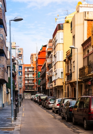 3rd century: BADALONA, SPAIN - MARCH 2: Rafael de Casanova street in March 2, 2013 in Badalona, Spain.  City was founded by the Romans in the 3rd century BC.  Population: 220,977 (2012 Census) Editorial