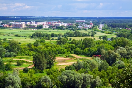 outskirts: Summer landscape with  outskirts of Vladimir. Russia