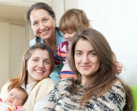 Happy women of three generations in home interior Stock Photo - 19611827
