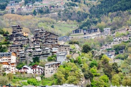 City at Pyrenees mountains. Andorra la Vella,  Andorra photo