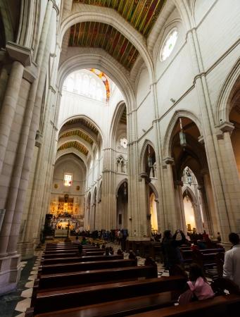 MADRID, SPAIN - APRIL 25: Interior of La Almudena Cathedral in April 25, 2013 in Madrid, Spain. Santa Maria la Real de La Almudena is Catholic cathedral