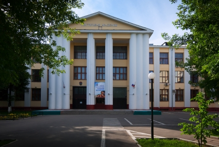 architectural studies: IVANOVO, RUSSIA - JUNE 27:  Ivanovo State Textile Academy on June 27, 2012 in Ivanovo, Russia. The Academy was founded in 1930, status of the Academy was awarded the university in 1994 Editorial