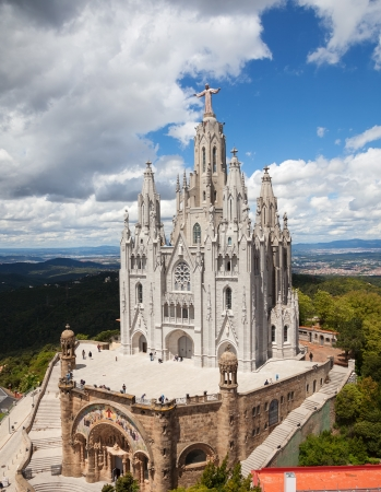 Temple Expiatori del Sagrat Cor. Barcelona, Spain Stock Photo - 20240348