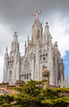 Temple Expiatori del Sagrat Cor   in Barcelona, Spain Stock Photo - 20240349