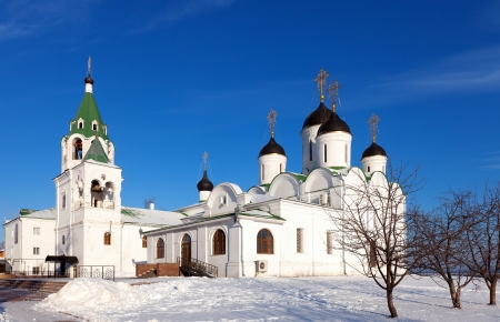 spassky: Spassky Cathedral of Holy Transfiguration Monastery at Murom in winter day. Russia
