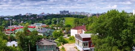 panoramic view of  Vladimir in summer. Russia photo