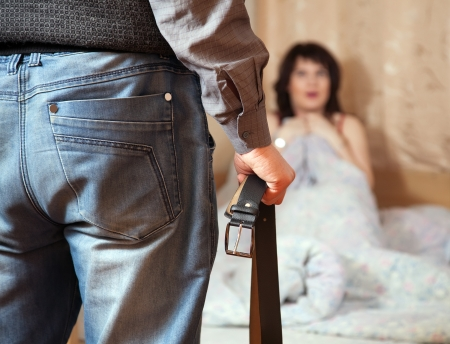 sadism: Married couple having quarrel about adultery