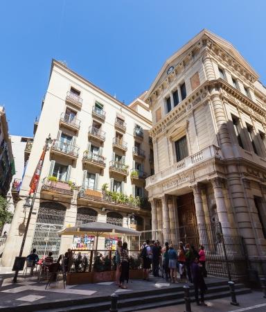 gotico: Barcelona - 14 de abril: Placa de la Ver�nica - Barrio G�tico, en 14 de abril 2013 en Barcelona. Es el centro de la antigua ciudad, uno de los s�mbolos de la ciudad
