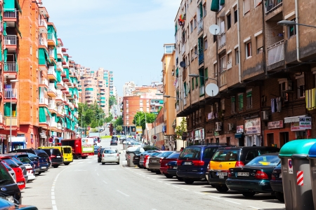 3rd century: BADALONA, SPAIN - JUNE 11: Streets in La Salut district of Badalona in June 11, 2013 in Badalona, Spain.  City was founded by the Romans in the 3rd century BC.  Population: 220,977 (2012 Census) Editorial