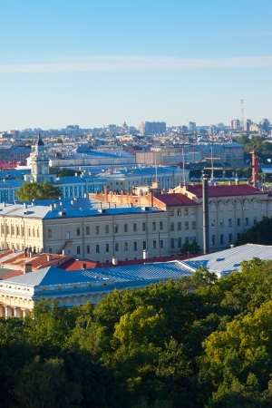 residential settlement: Top view of city from Saint Isaacs Cathedral. St. Petersburg, Russia