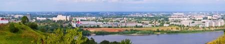 nizhni novgorod: panoramic view of  industry district at Nizhny Novgorod in summer. Russia Stock Photo