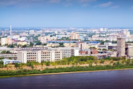 residential settlement: industry district of Nizhny Novgorod. Russia