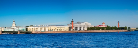 View of St. Petersburg.  Spit of Vasilievsky Island  in summer day photo