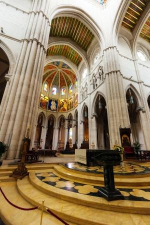 Santa Maria la Real de La Almudena is  cathedral - main church of Spain