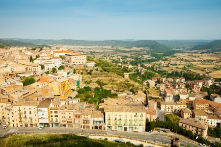 catalunia: view of  Catalan town. Cardona, Catalunia