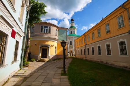 Old street at Vladimir in summer, Russia photo