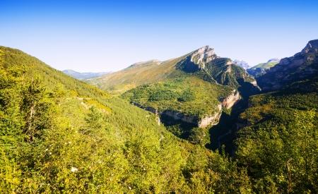 Pyrenees Mountains landscape - Anisclo Canyon in summer. Huesca Banco de Imagens