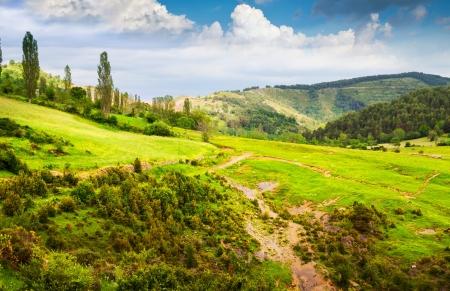 aragon: Pyrenees mountains landscape in summer. Huesca, Agaron