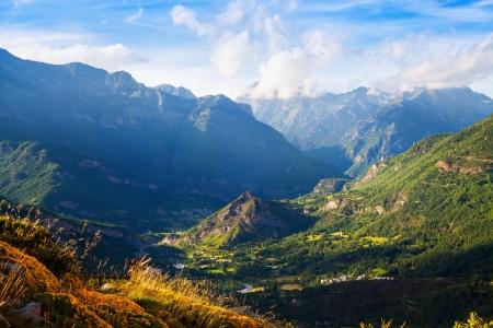aragon: Summer view of valley at Pyrenees. Huesca, Aragon