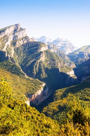 anisclo: Mountains landscape - Anisclo Canyon. Huesca