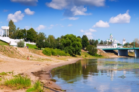 kreml: View of Yaroslavl in summer. Russia Stock Photo