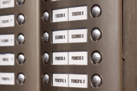 access control: building intercom. Apartment numbers in Spanish