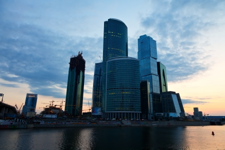 conceived: MOSCOW, RUSSIA - JULE 4: Moscow International Business Center, another name is Moscow-City  in Jule 4, 2012 in Moscow, Russia. First conceived project in 1992. Designed for 250,000 - 300,000 people Editorial
