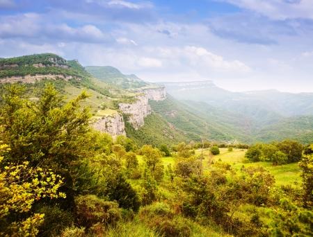 view of  catalan mountains landscape. Collsacabra, Catalonia Stok Fotoğraf