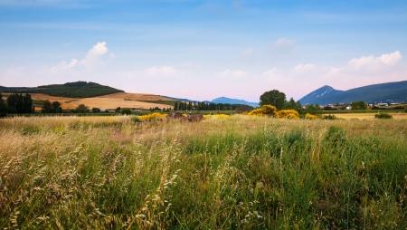 navarre: Field at foothills. Navarre, Spain