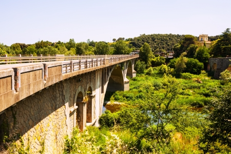 automobile bridge in Banyoles, Catalonia photo