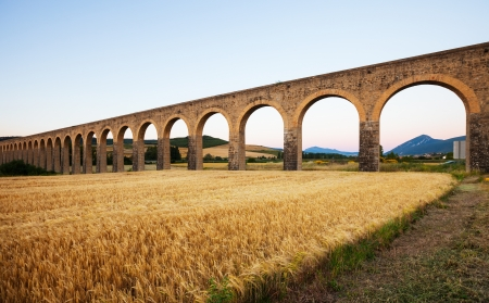 acueducto: Acueducto near Pamplona by architect Ventura Rodriguez. Navarre Stock Photo
