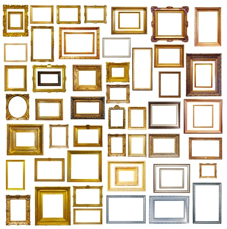 many picture frames. Isolated over white background, may be used for photo or picture  photo