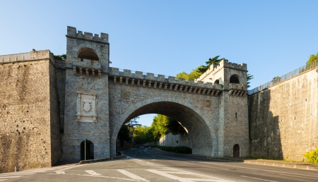 City gate in fortress wall in Pamplona. Navarre photo