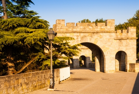 fortress wall in Pamplona. Navarre
