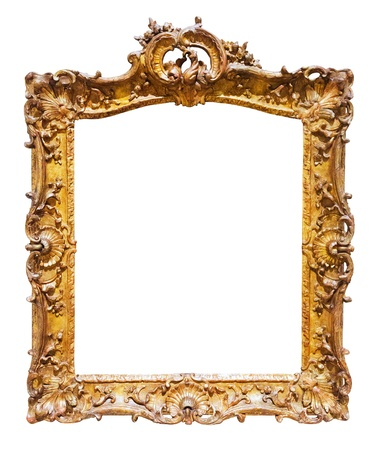 gilded  frame. Isolated over white background, may be used for photo or picture   Stock Photo