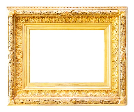 Luxury gilded  frame. Isolated over white background, for photo or picture  photo