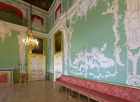 imrepator: ST.PETERSBURG, RUSSIA - AUGUST 3: Interior of Stroganov Palace in August 3, 2012 in St.Petersburg, Russia.  Palace was built to Rastrellis designs in 1753-1754. Now - branch of the Russian Museum Editorial