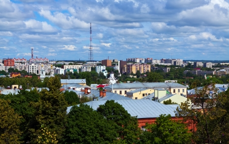 residential settlement: Top view of Vladimir city, Russia Stock Photo