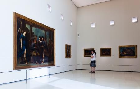 art museum: BARCELLONA, SPAGNA - 8 agosto: esposizioni di Museo Nazionale d'Arte della Catalogna su 8 agosto 2013 a Barcellona, ??Spagna. Stile ?lassicism sala Art