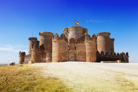 mudejar: Main gate in Gothic Mudejar castle at Belmonte. Cuenca, Spain Editorial