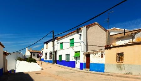 Residence houses in Campo de Criptana. La Mancha,  Spain photo