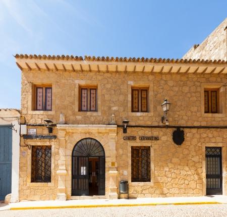 don quixote: EL TOBOSO, SPAIN - AUGUST 23: Cervantine Museum on August 23, 2013 in El Toboso, Spain.  Town is famous for appearing in novel Don Quixote by Miguel de Cervantes